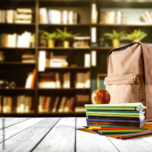 Leinwandbild Motiv dark mood photo of school background and free space for your decoration.