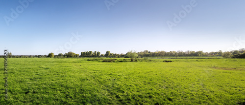 panorama of green farm land - 214936320