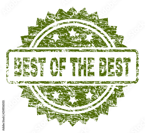 best of the best stamp seal watermark with rubber print style green