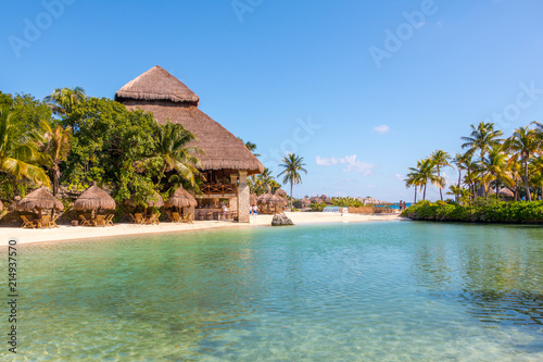In de dag Tropical strand Riviera Maya Playa