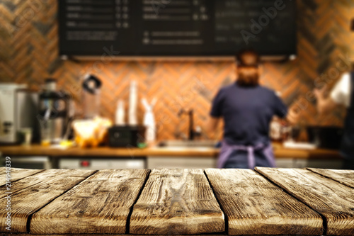 Table background of free space and bar.  - 214940339