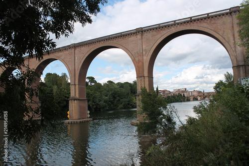 Foto Spatwand Spoorlijn Pont ferroviaire sur le Tarn