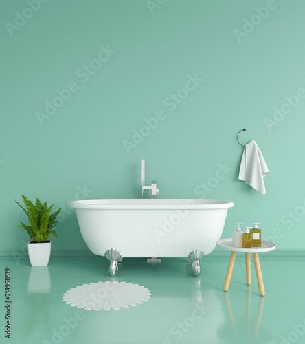 Zielony łazienki wnętrze, 3D rendering
