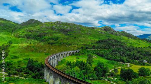 Aluminium Blauwe jeans Glenfinnan viaduct in the highlands of Scotland