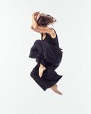Beuatiful female dancer. Studio background. - 214983518