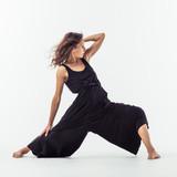 Beuatiful female dancer. Studio background. - 214983579