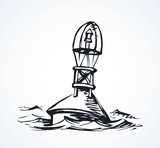 Buoy. Vector drawing