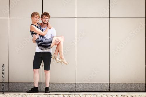 Foto Murales Sexy sensual couple outdoor. Love.