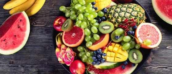 Fresh  fruits and berries platter © bit24