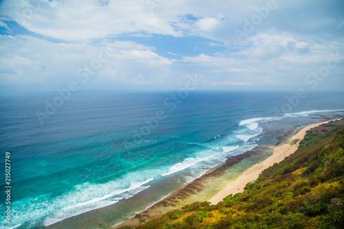 Plexiglas Bali Nyang Nyang and Nunggalan beach, Bali, Indonesia.