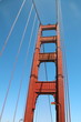 Looking up at the Golden Gate Bridge Tower