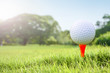 Golf wide green lawn.