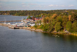 Sweden - The Baltic Sea, Islands and typical coastline, view from the ferry - 215038923
