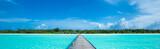 tropical beach in Maldives - 215040366