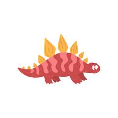 Cute cartoon dinosaur, prehistoric dino character vector Illustration on a white background