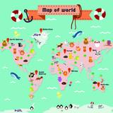 世界地図地球エコロジー環境背景
