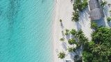 Amazing bird eyes view in Maldives - 215058115