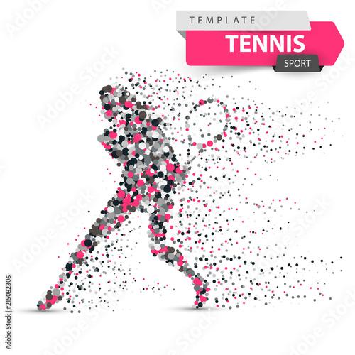 Fototapeta Big tennis - dot illustration. Sport template. Vector eps 10