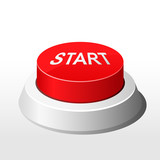 Red button with inscription Start  - launch button