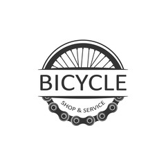 Bike badge vector. Bike logo