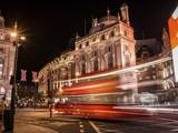 Longa exposição de Autocarro em Regent Street, Londres, Trafego em Londres