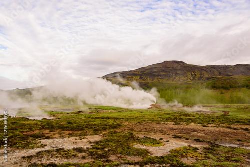 Canvas Wit Geyser, zona geotermal Strokkur en, Islandia