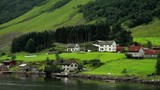 Beautiful Fjord Norway. Summertime in one of the must beautiful fjords in the world. Kodak LUT - 215095550