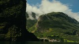 Beautiful Fjord Norway. Summertime in one of the must beautiful fjords in the world. Kodak LUT - 215096769