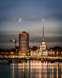 Moonlight over Dublin city Ireland - 215100190