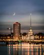 Moonlight over Dublin city Ireland - 215100190