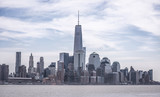 New York City skyline with Freadom Tower during the day - 215104545