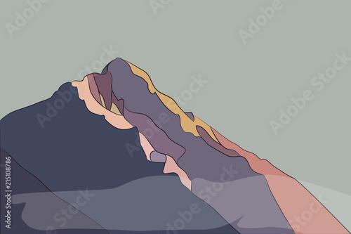bright mountains - 215108786