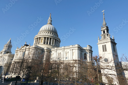 Foto Spatwand London Cathedral of Saint Paul's in London England.