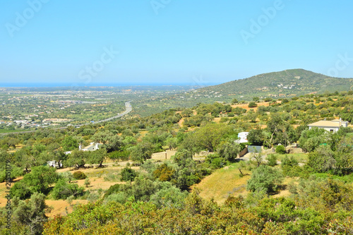 Plexiglas Pool Rural Landscape in Algarve, Portugal: Serra de Monte Figo