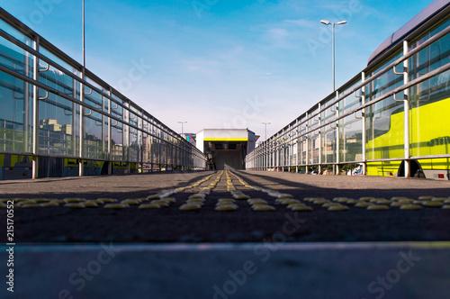 Foto Spatwand Spoorlijn Estação