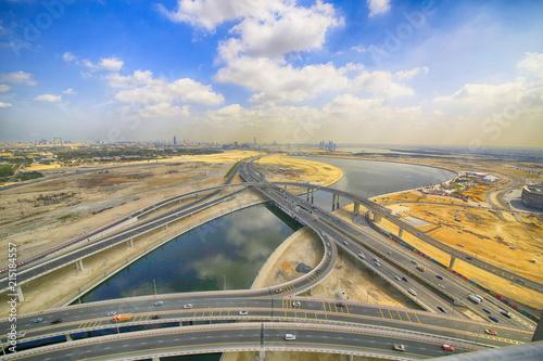 In de dag Nacht snelweg Al Khail Road Interchange