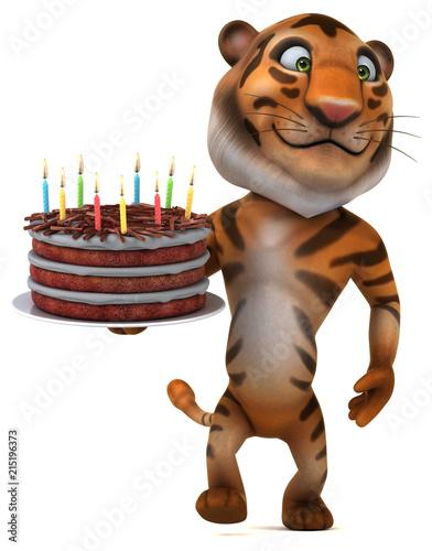 Fototapeta Fun tiger - 3D Illustration