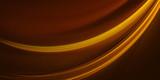 Golden wave on a dark brown background
