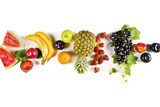 Assorted fruits on isolated background - 215201592