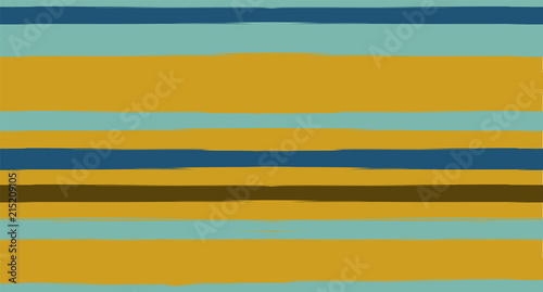 Brown, Gray, Green Vector Seamless Summer Pattern Narrow Sailor Stripes. Trendy Textured Horizontal Hipster Lines, Paintbrush Male Fabric Design. Vector Watercolor Seamless Stripes Track Background.