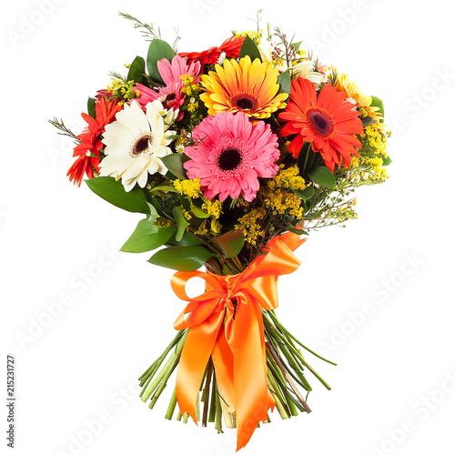 Foto Spatwand Gerbera flower bouquet