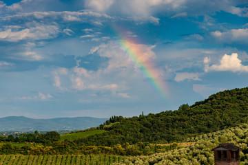 Rainbow in rural Tuscany