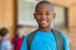 Smiling african school boy