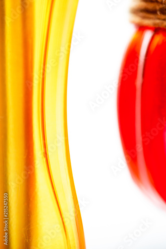 Abstract art graphic picture of yellow and red glass bottles - 215247550