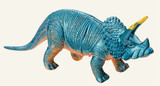triceratops dinosaur toy isolated on white background