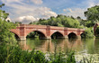 Quadro The RiverThames in England at Clifton Hampden in Oxfordshire
