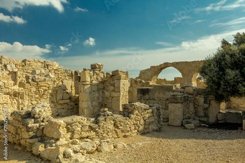 In de dag Cyprus Руины Кипр