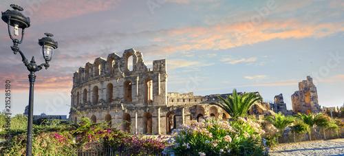 El Djem Colosseum amphitheater. Tunisia, North Africa