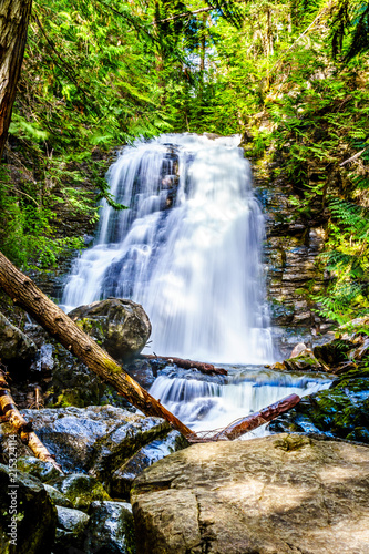 Whitecroft Falls, a waterfall on McGillivray Creek and a short hike from Sun Peaks Road near the town of Whitecroft in the Shuswap region of the Okanagen in British Columbia, Canada © hpbfotos