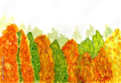 Canvas Oranje eclat Forest landscape art